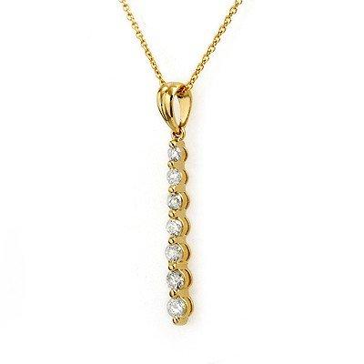 Natural 0.50 ctw Diamond Necklace 14K Yellow Gold - Ret