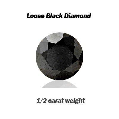 Natural 0.50ct Loose Black Diamond size 5.0mm