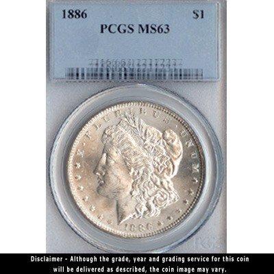 1886 Silver Dollar PCGS Certified MS63