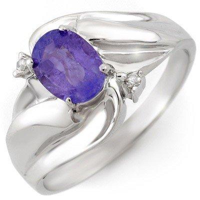 Genuine 1.02 ctw Tanzanite & Diamond Ring 10K Gold -