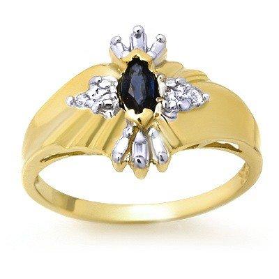 Genuine 0.22 ctw Sapphire & Diamond Ring White Gold *