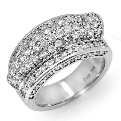 Natural 2.0 ctw Diamond Bridal Ring 14K White Gold -