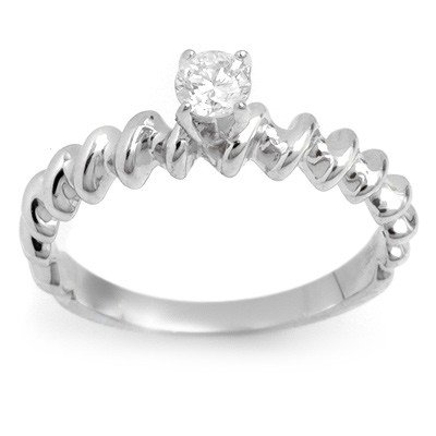 Natural 0.25 ctw Diamond Ring 14K White Gold -