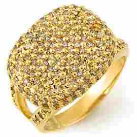 Natural 1.50 ctw Diamond Ring 10K Yellow Gold