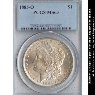 1885-O Morgan Silver Dollar PCGS Certified MS63