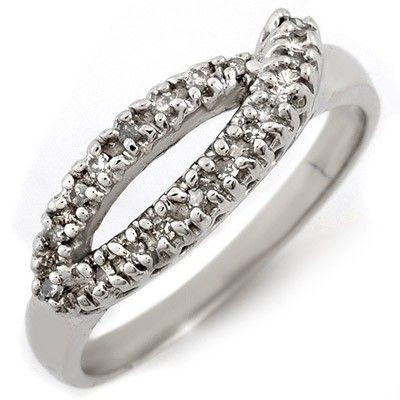 Natural 0.20 ctw Diamond Ring 10K White Gold
