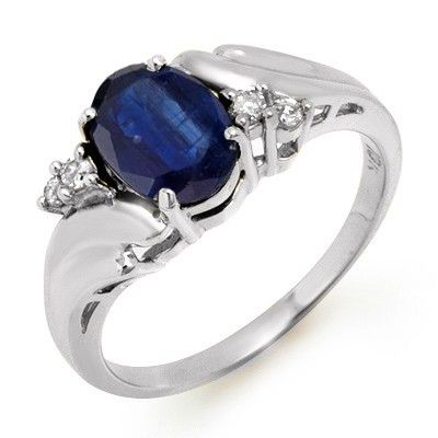 Genuine 1.67 ctw Sapphire & Diamond Ring 10k Gold