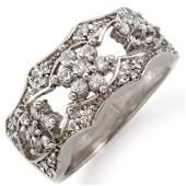 Natural 090 ctw Diamond Ring 14K White Gold