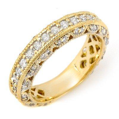 Natural 1.0 ctw Diamond Engagement Ring 14K Yellow Gold