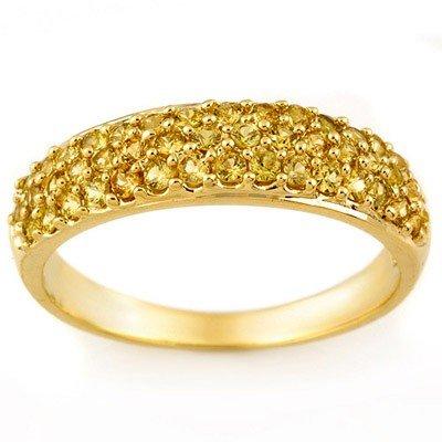 Genuine 1.50 ctw Yellow Sapphire Ring 14K Yellow Gold