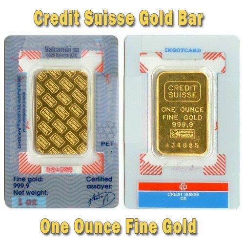 1 oz Credit Suisse Gold