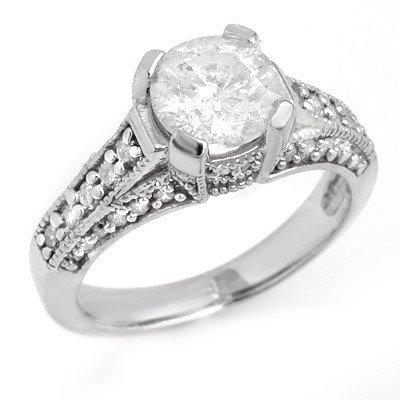Natural 2.16 ctw Diamond Bridal Ring 14K White Gold