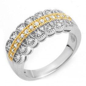 Natural 0.50 Ctw Diamond Bridal Ring 10K Multi Tone Gol