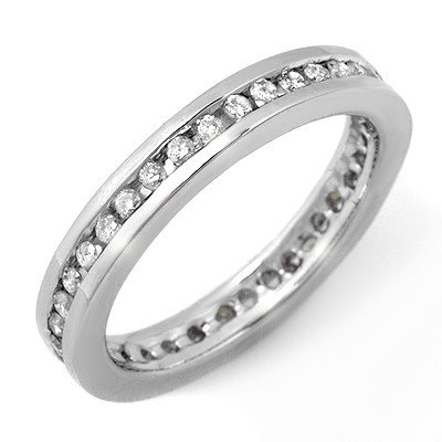Natural 0.50 ctw Diamond Ring 10K White Gold