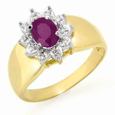 Genuine 0.40 ctw Amethyst Ring 10K Yellow Gold