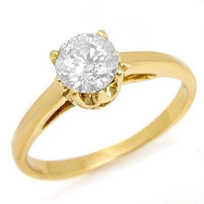 Natural 0.80 ctw Diamond Ring 14K Yellow Gold - L1645