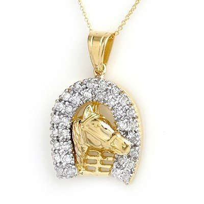 Natural 1.25 ctw Diamond Pendant 14K Yellow Gold - L997