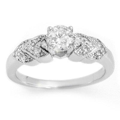 Natural 0.75 ctw Diamond Ring 14K White Gold - L1864