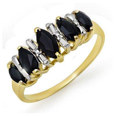 Genuine 1.02 ctw Sapphire Ring 10K Yellow Gold