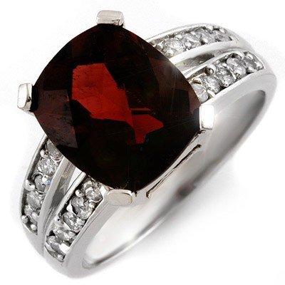 Genuine 4.47ctw Pink Tourmaline & Diamond Ring 10K Gold