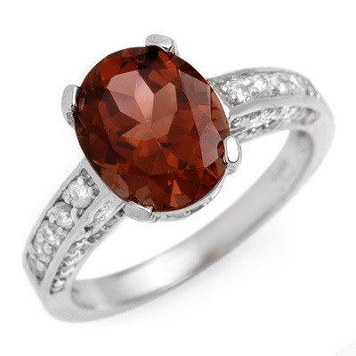 Genuine 3.6ctw Pink Tourmaline & Diamond Ring 14K Gold