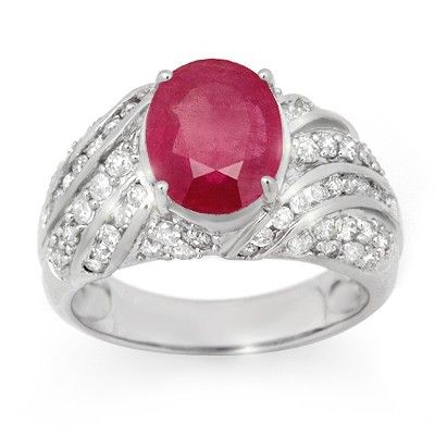 Genuine 7.25 ctw Ruby & Diamond Men's Ring 14K Gold