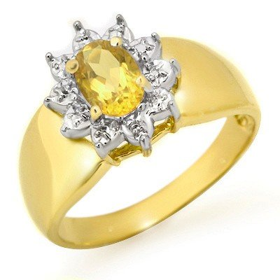 Genuine 0.40 ctw Citrine Ring 10K Yellow Gold