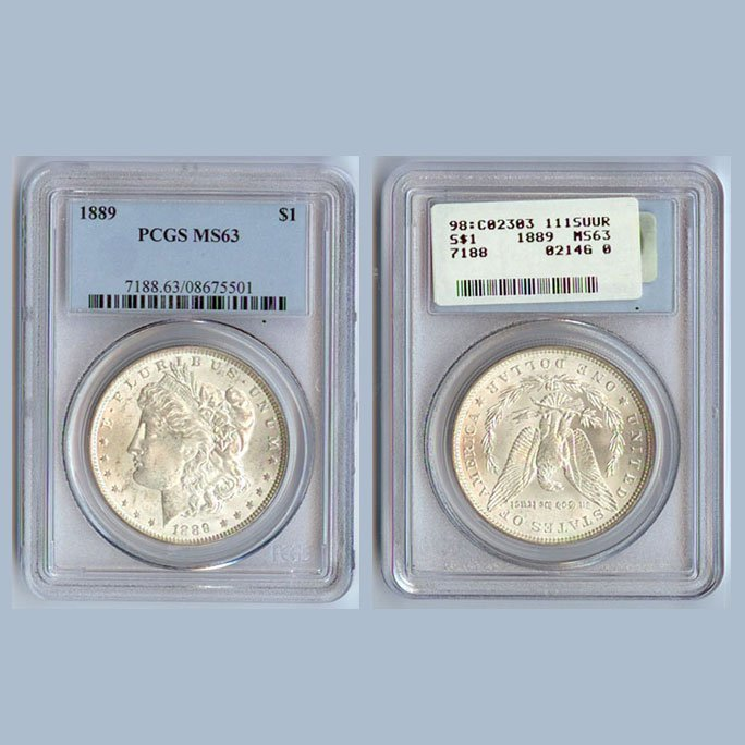 1889 Morgan Silver Dollar Coin PCGS MS63