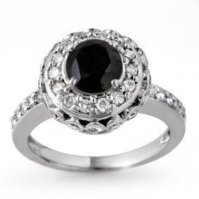 Natural 2.64 Ctw Diamond Ring 14K White Gold