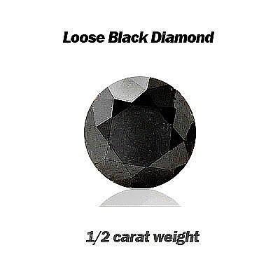Natural 0.50ct Loose Black Diamond size 5.0mm