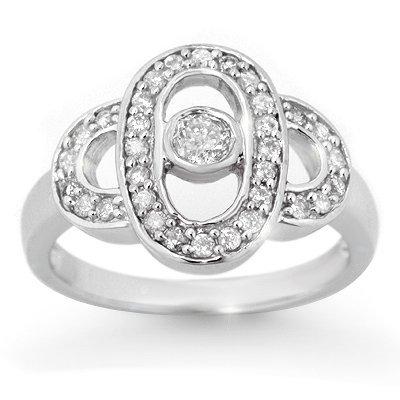 Natural 0.55 ctw Diamond Engagement Ring 10K White Gold