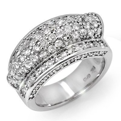 Natural 2.0 ctw Diamond Bridal Ring 14K White Gold