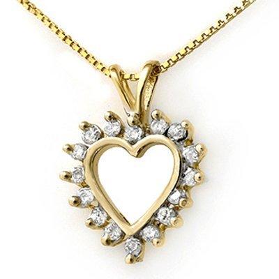 Natural 0.50 ctw Diamond Pendant 14K Yellow Gold