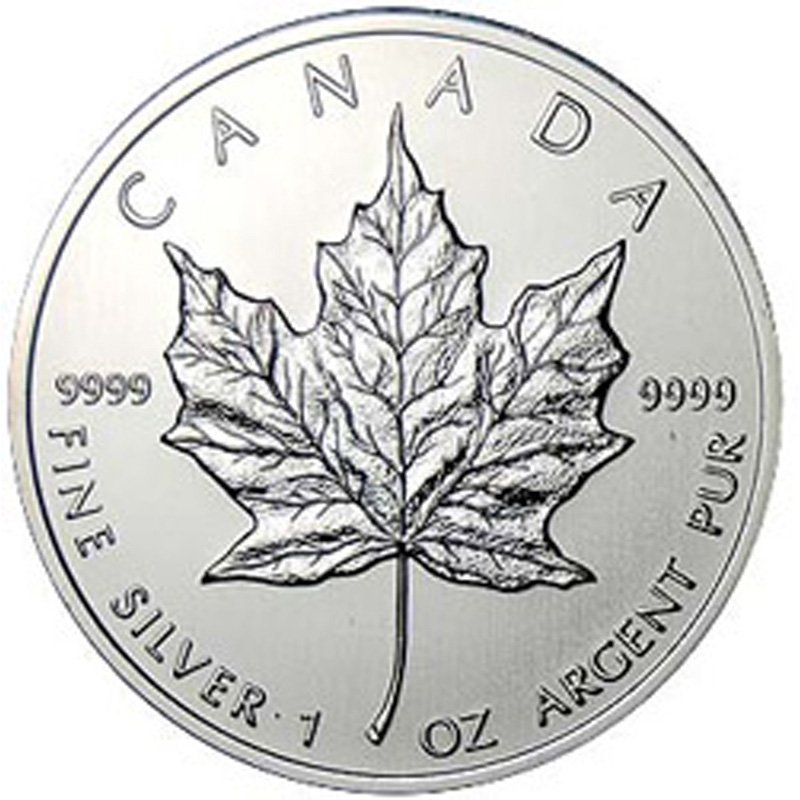 Extra Fine or Better 1oz Sillver Canadian Maple Leaf -