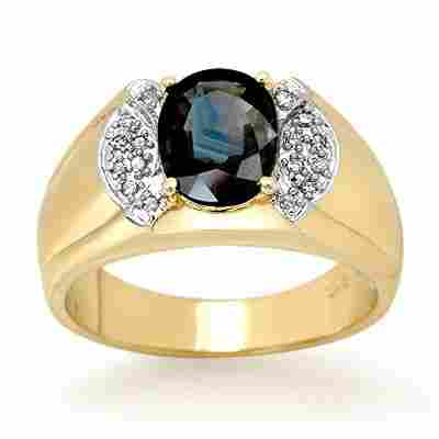 Genuine 2.0 ctw Sapphire & Diamond Ring 10k Gold