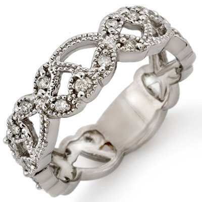 Natural 0.25 ctw Diamond Bridal Ring 10K White Gold