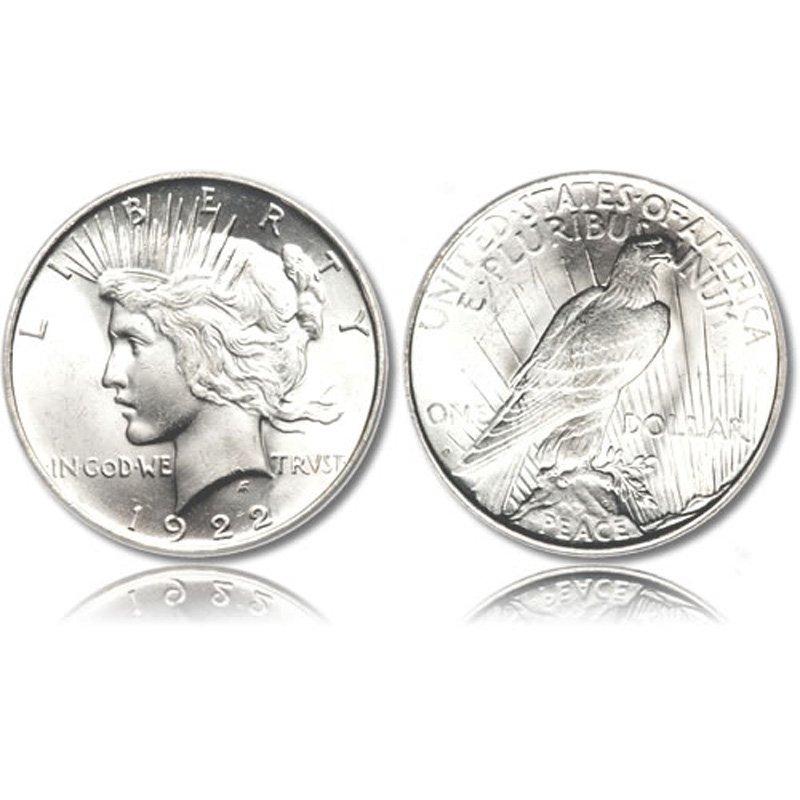 Peace Silver Dollar Coin - Random date - Average Circul