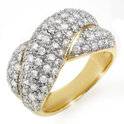 Natural 2.05 ctw Diamond Ring 14K Yellow Gold
