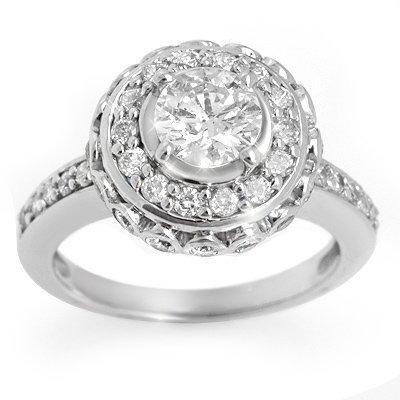 Natural 2.04 ctw Diamond Ring 14K White Gold