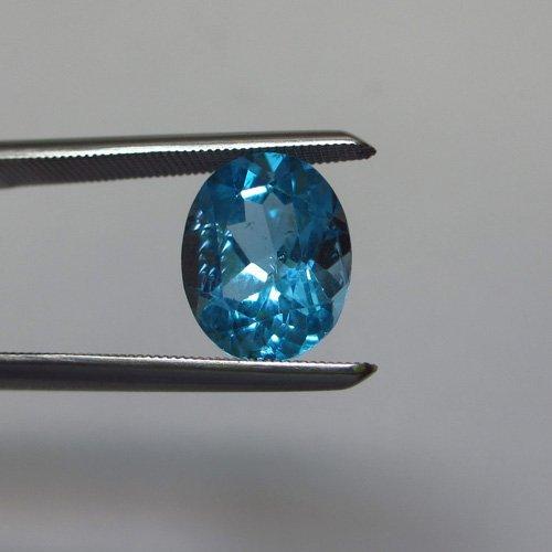 Loose Natural Swiss Blue Oval Topaz 11mm x 9mm