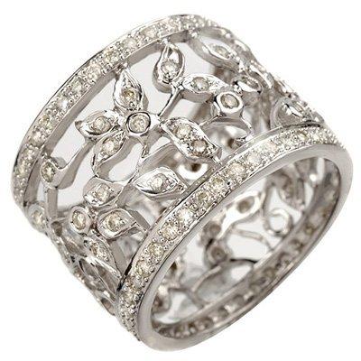 Natural 1.30 ctw Diamond Ring 14K White Gold