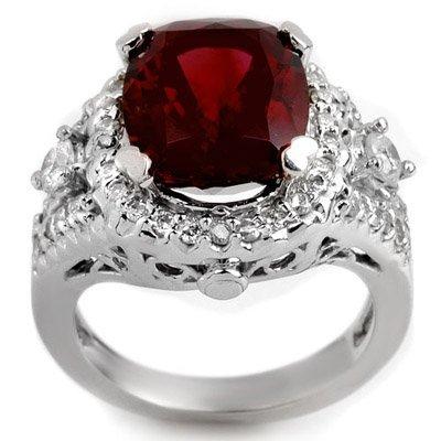 Genuine 6.15ctw Pink Tourmaline & Diamond Ring 14K Gold