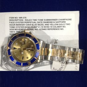 Authentic Rolex Two-tone Submariner Champagne Face