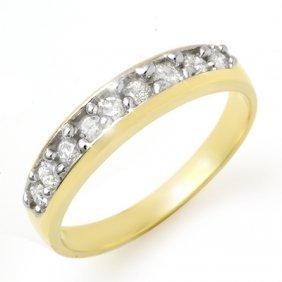 Natural 0.25 Ctw Diamond Ring 14K Yellow Gold
