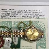 Authentic Rolex Two-tone Date Just Champagne Face