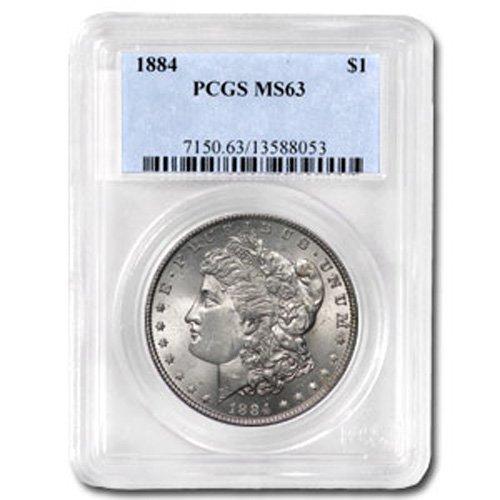 1884 Morgan Silver Dollar MS63 PCGS Certified - P1884