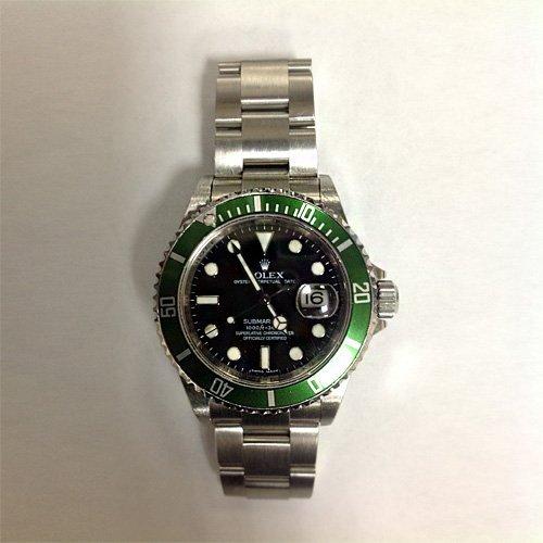 Authentic Rolex Submariner Green Bezel