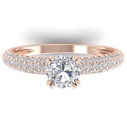 Genuine 1.40 CTW Certified Diamond Solitaire Engagement