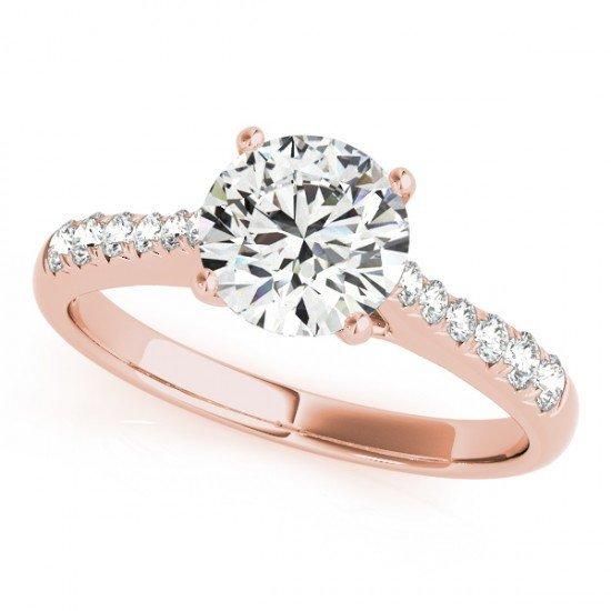 Genuine 1.25 CTW Certified Diamond Solitaire Bridal