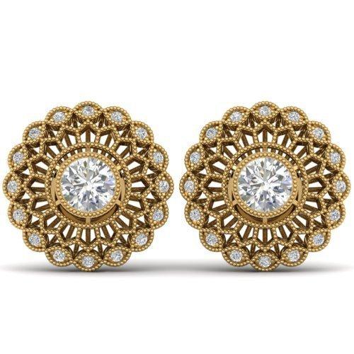 Genuine 1.50 CTW Certified Diamond Solitaire Art Deco